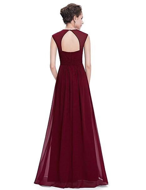 Women's Elegant V-Neck Sleeveless Formal Long Evening Dress