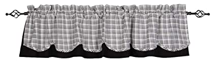 Home Collections by Raghu 72x15.5 Houndstooth Gray-Black Fairfield Valance