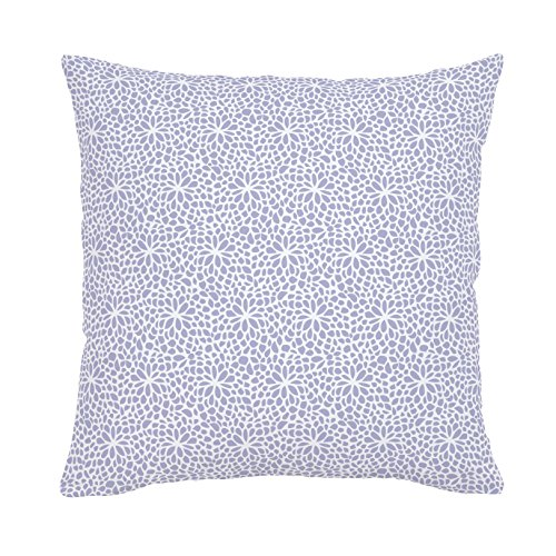 Carousel Designs Lavender Modern Mums Throw Pillow 18-Inch Square Size