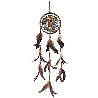 "Amia Bear Clan Glass Dreamcatcher, 28"", Multicolor: Home & Kitchen"