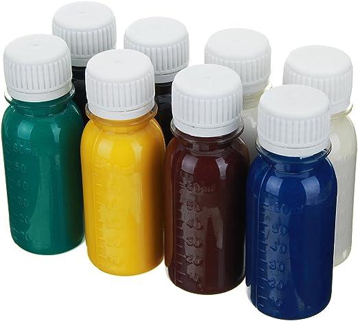 ChaRLes 60Ml Bricolaje Cuero Tinte Aceite Diluyente Herramientas Kit Colorantes Líquido Pigmento Mezclar Colores Bricolaje Manualidades - Rojo