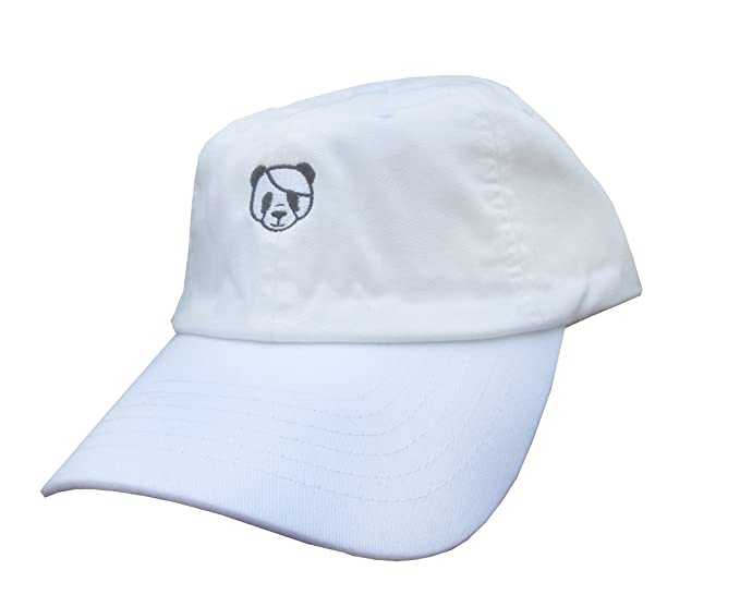 770354fb918 Image Unavailable. Image not available for. Color  Rob sTees Panda Emoji  Meme White Unstructured Twill Cotton Low Profile Yeezus Dad Hat Cap