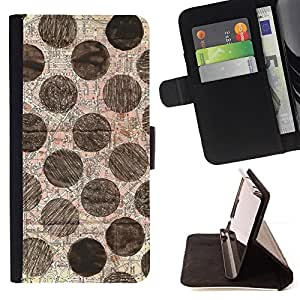 Jordan Colourful Shop - dot pattern hand drawn art For Apple Iphone 6 - Leather Case Absorci???¡¯???€????€?????????&Atild