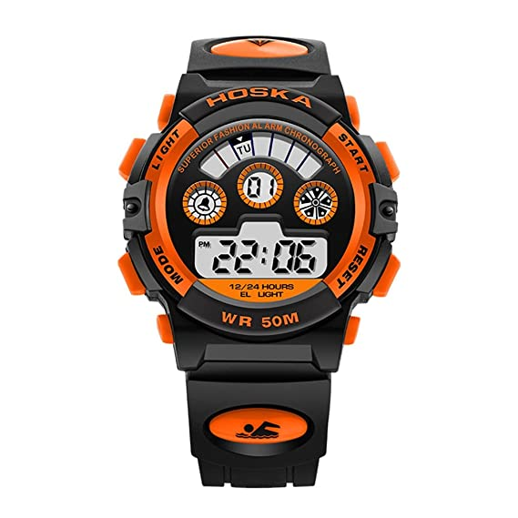 Amazon.com: Kids Outdoor Sport Watches Waterproof ...