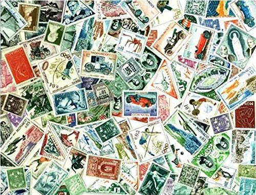 Monaco Stamp Collection - 100 Different Stamps