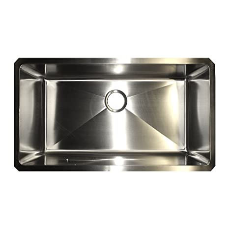 Merveilleux KINDRED KSUS33A/10/25BG Single Bowl Farmhouse Kitchen Sink Satin Stainless  Steel