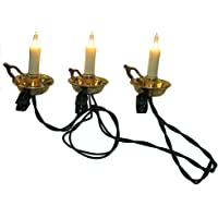 Kurt Adler 10-Light Candle with Gold Dish Light Set