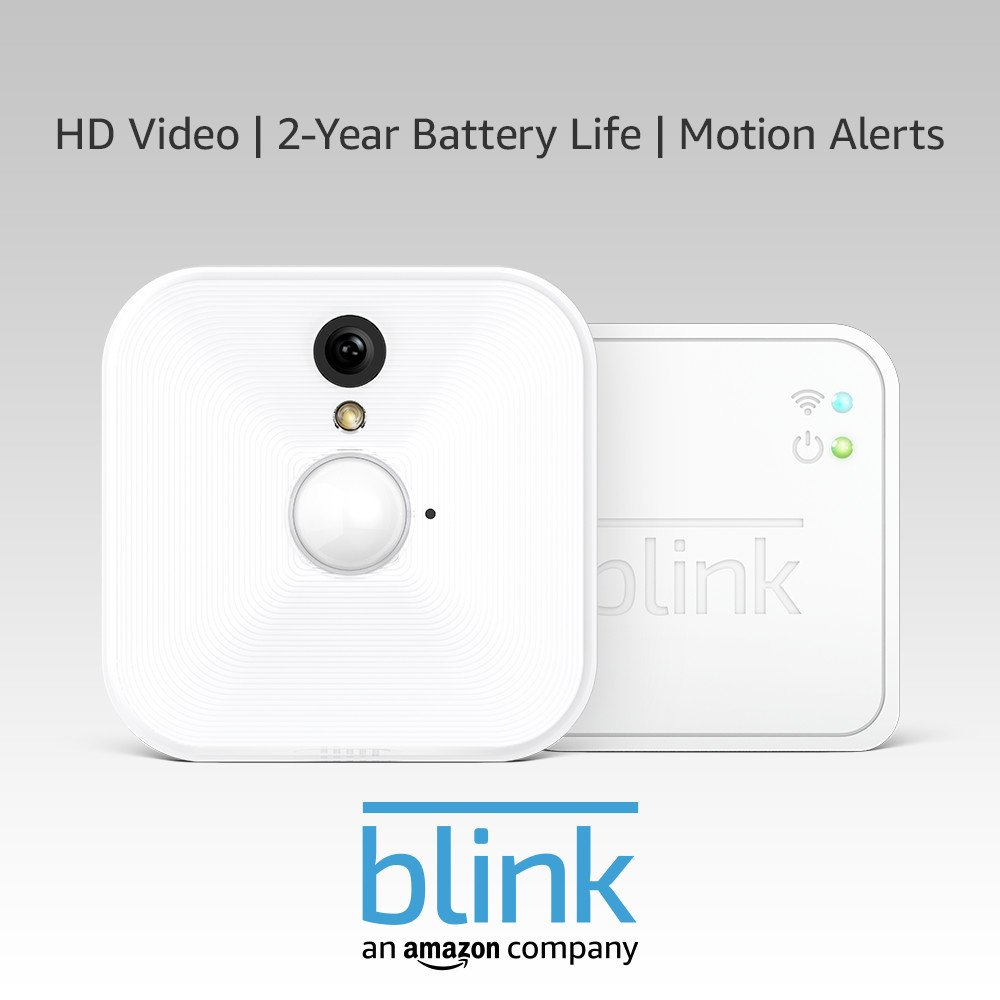 Blink Indoor Home Security Camera System | with Motion Detection, HD Video,  2-year Battery Life and Cloud Storage Included | 1-Camera Kit