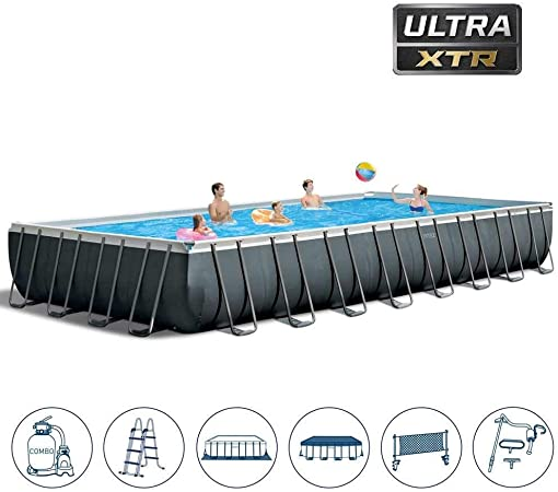 Intex 32Ft X 16Ft X 52In Ultra XTR Rectangular Pool Set: Amazon.es ...