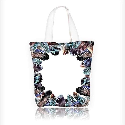 Bolsa de lona para bolso de mano con diseño de pájaros ...