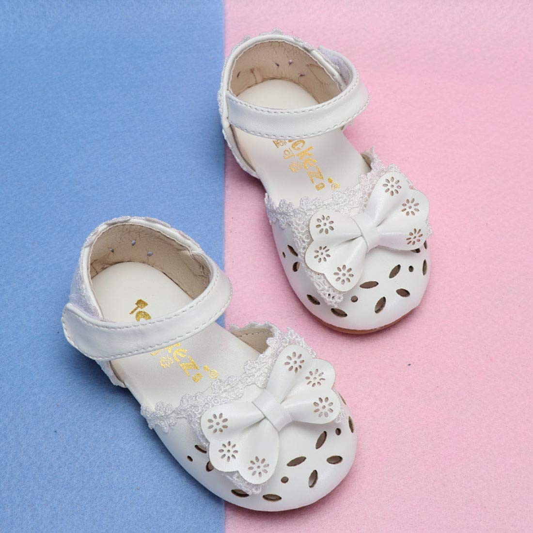 Toddler//Little Kid YIBLBOX Baby Girls PU Leather Soft Closed Toe Princess Mary Jane Flat Shoes Summer Sandals