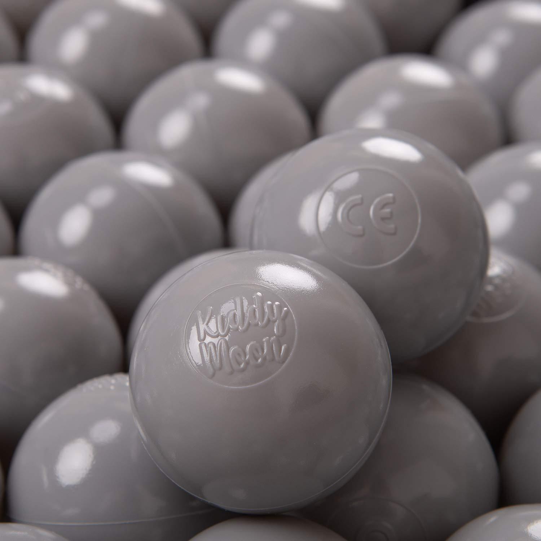 KiddyMoon 200 /∅ 6Cm Bolas Colores De Pl/ástico para Piscina Certificadas para Ni/ños Amarillo