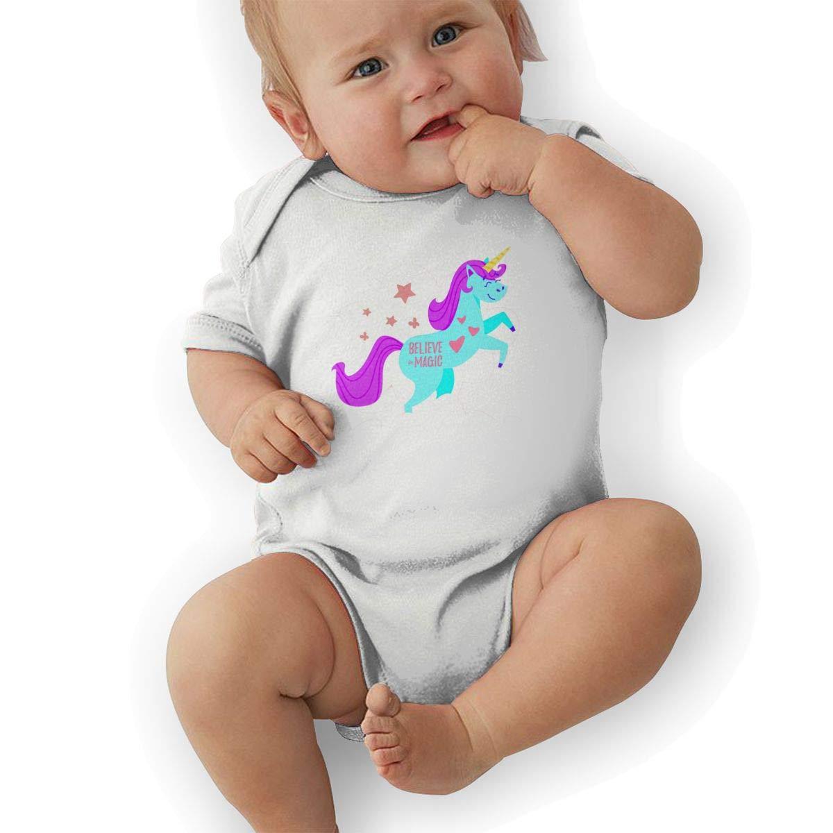 Happy Unicorn Newborn Baby Short Sleeve Romper Infant Summer Clothing