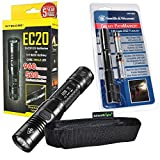 Nitecore EC20 960 Lumen CREE XM-L2 T6 LED Flashlight & Smith & Wesson PathMarker LED Flashlight with high quality EdisonBright holster