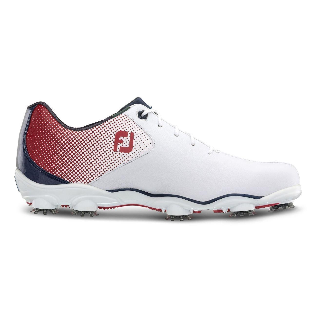 Footjoy D.N.A Helix Schuh Herren weiß rot blau