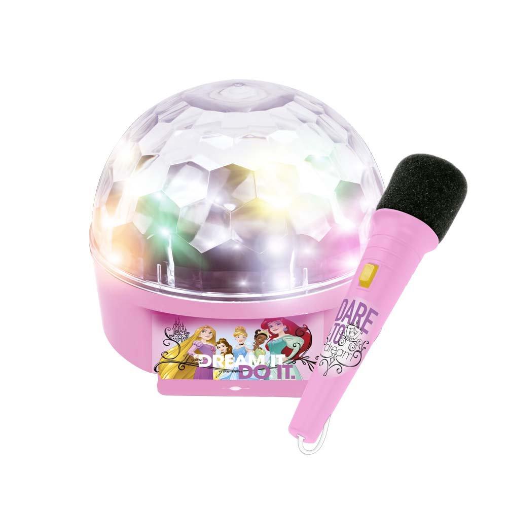REIG 5295Princesses Disney Princess Boule Disco avec lumière et Microphone