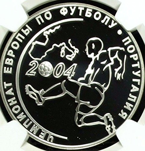 2004 RU Russia 2004 Silver 3 Roubles Championship Soccer coin PF 69 Ultra Cameo NGC (Championship Coin)