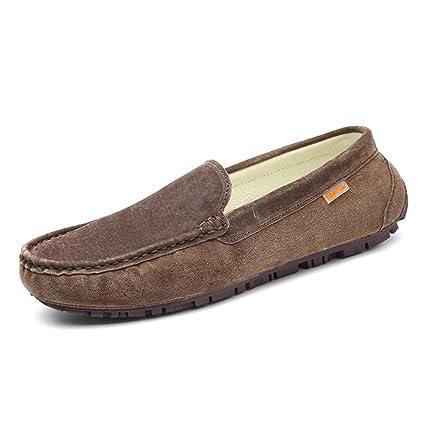 Xiazhi-shoes, Mocasines de Hombre, Ropa Casual con Suelas de Cuero Suave Mocasines