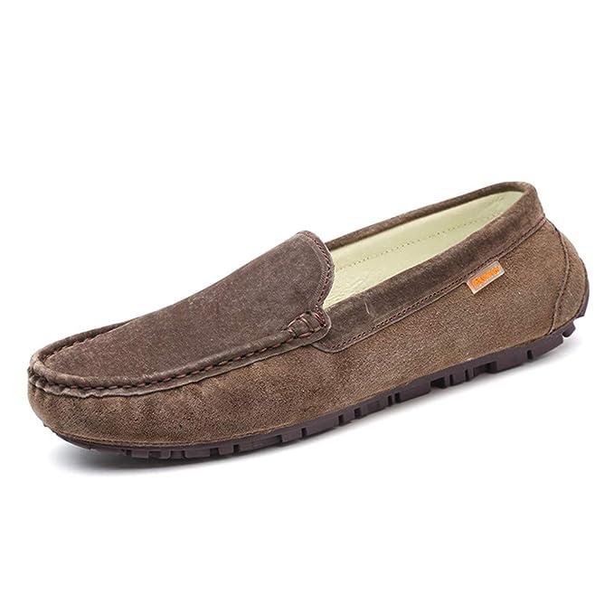 Shufang-shoes, Zapatos Mocasines para Hombre 2018 Mocasines de Hombre, Ropa Casual con Suelas de Cuero Suave Mocasines para Barcos (Color : Negro, ...