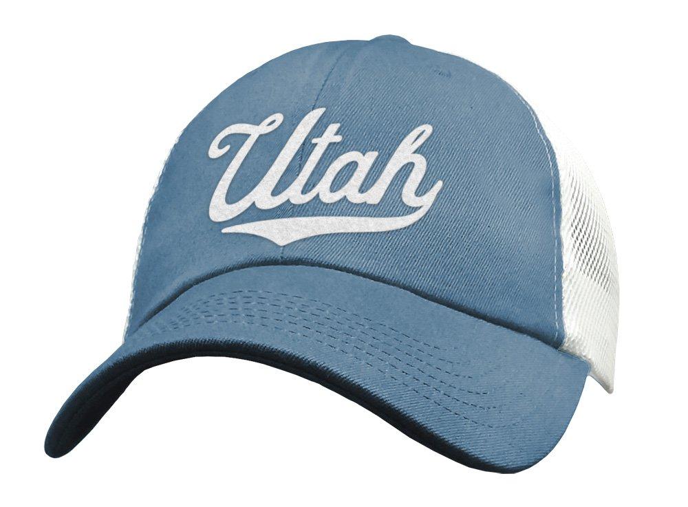5d5817c1011 Amazon.com  State of Utah Trucker Hat Baseball Cap - Snapback Mesh Low  Profile Unstructured Sports - UT USA  Handmade
