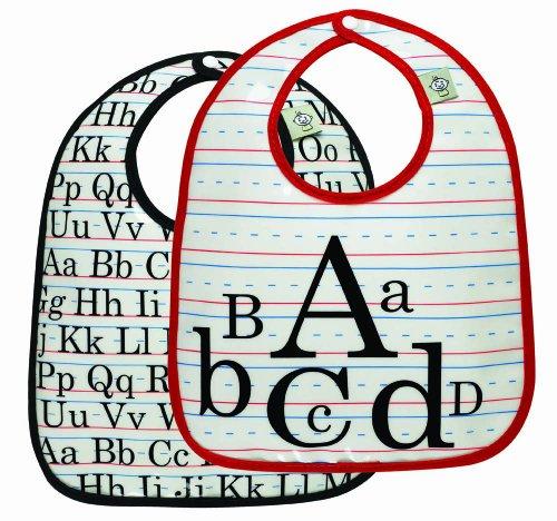 - Sugarbooger Mini Bib Gift Set, Vintage Alphabet, 2 Count