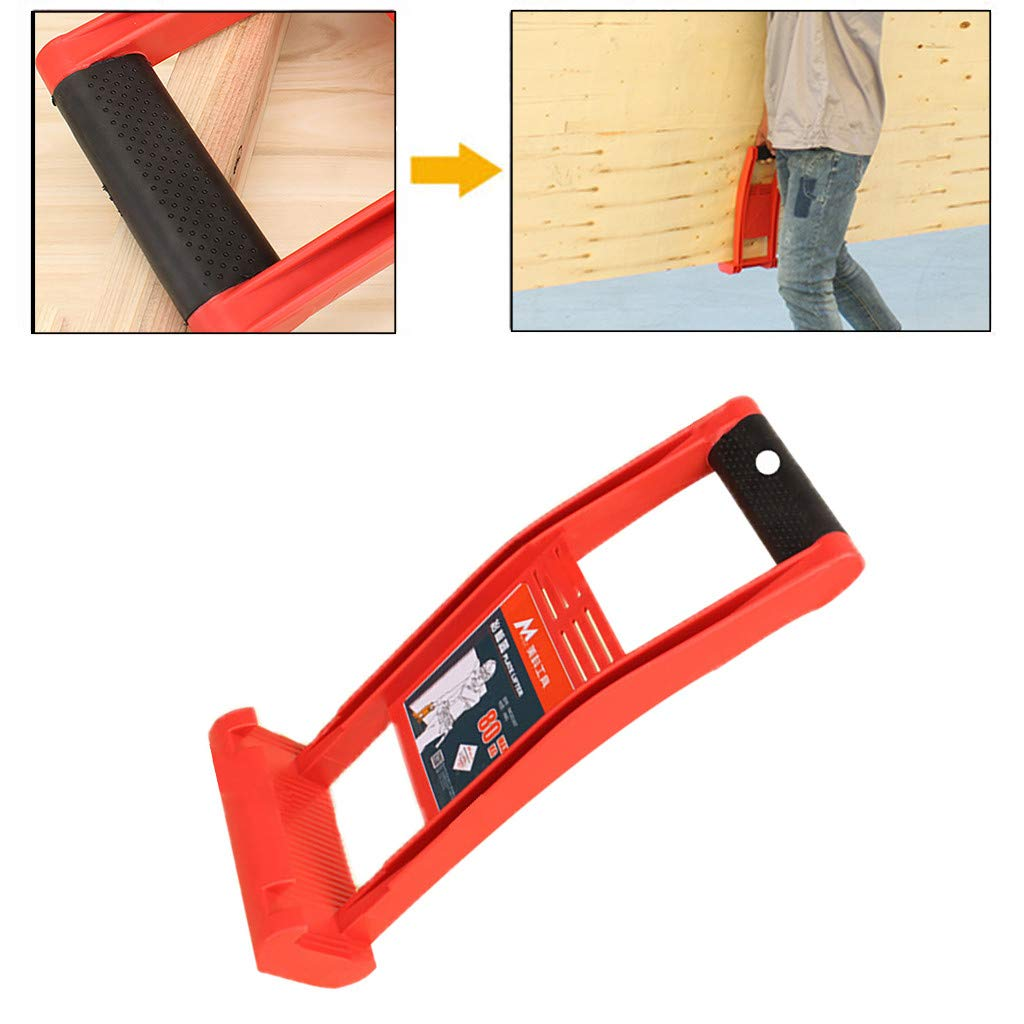 Weite Heavy Duty Drywall Sheets and Plywood Panel Carrier, Labor Saving Tool Carry Handle for Lifting up Glass Board Plasterboard Wood (Red)