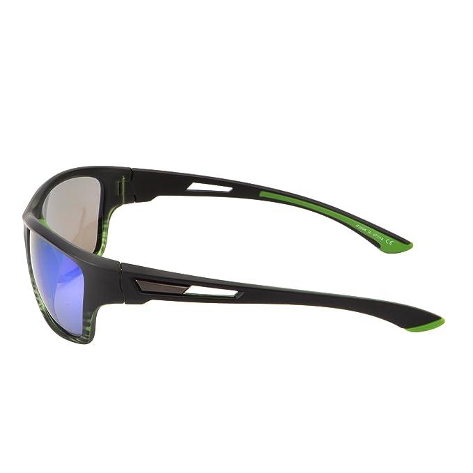 Lunettes de Soleil Sport Miroir pour Cyclisme Courir Pêche Golf Randonnée Antidérapant Branche Caoutchouc Vert ij1bDqIDo3