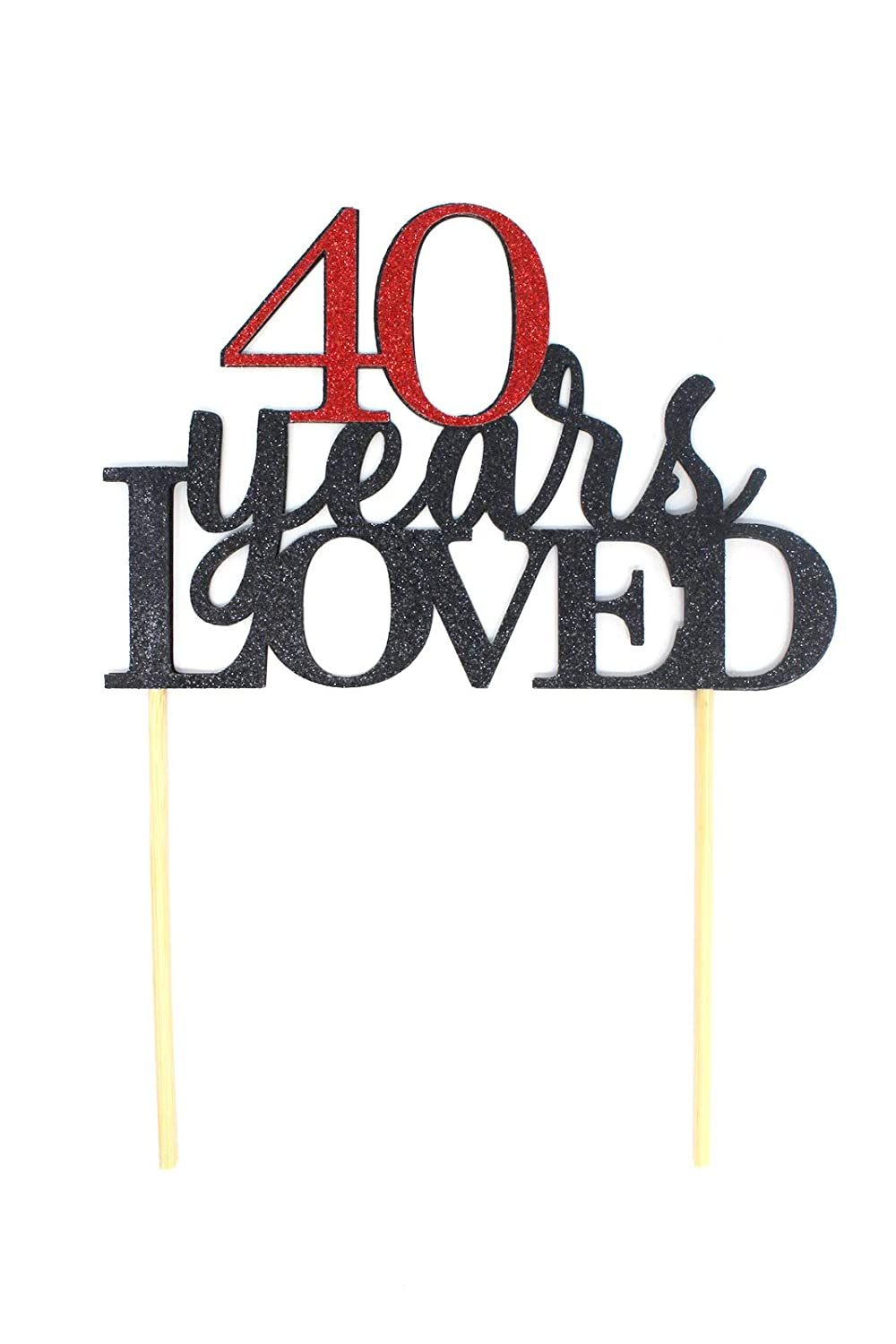 All About Details Gold 40-Years-Loved Cake Topper CAT40YL