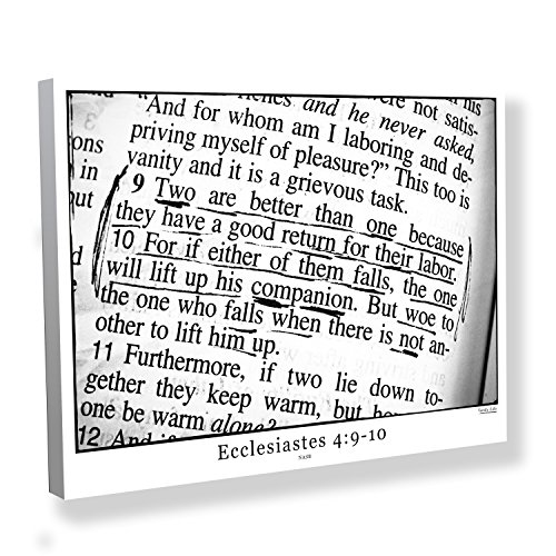 Ecclesiastes 4:9-10 Bible Verse Canvas Art for Your Marriage, Wedding Gift or Anniversary