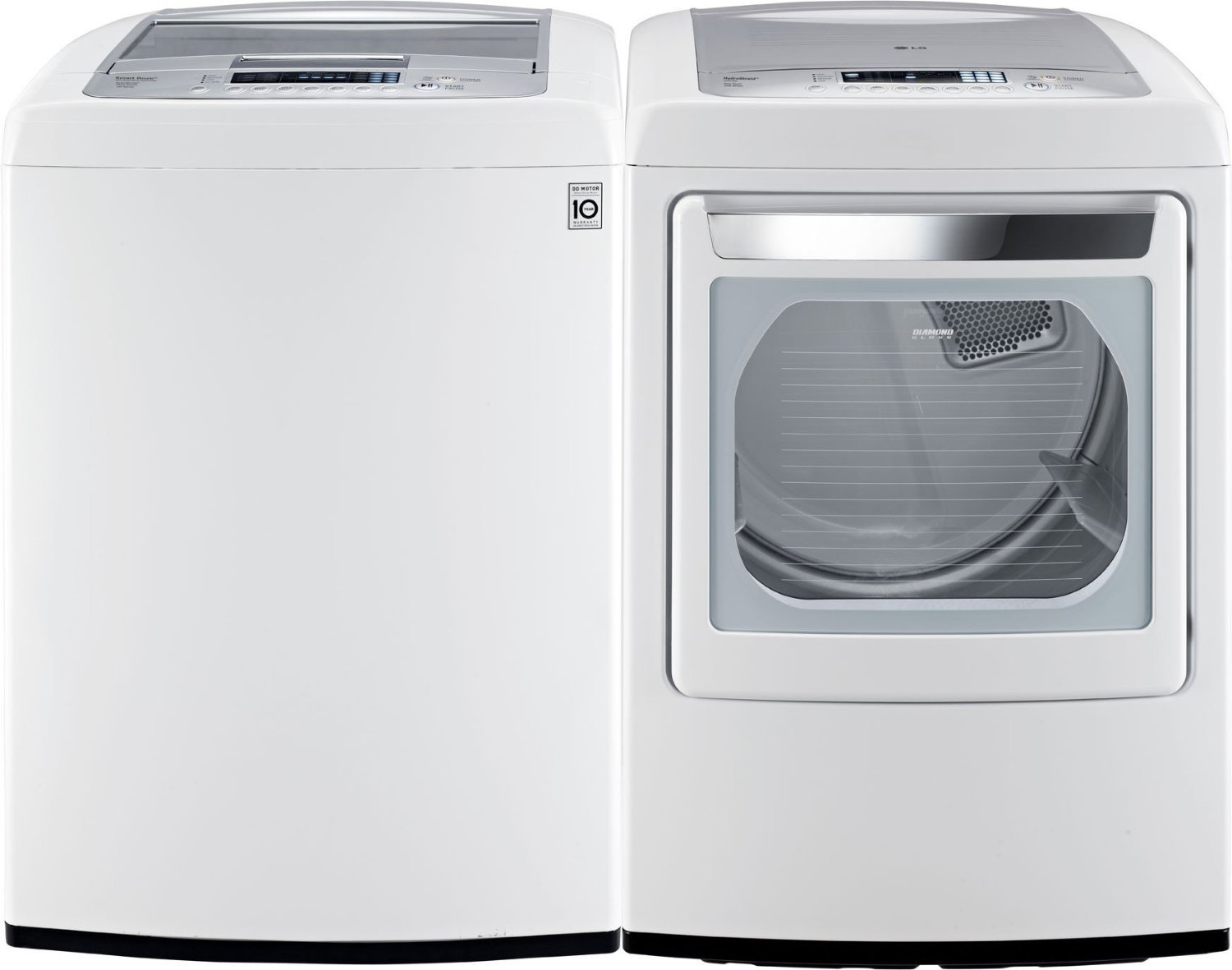 Lg 2 3 cu ft all in one washer and dryer - Amazon Com Lg Pair Buy Front Control Laundry Pair With Waveforce Technology With Electric Dryer Wt1201cw Dley1201w In Classic White Appliances