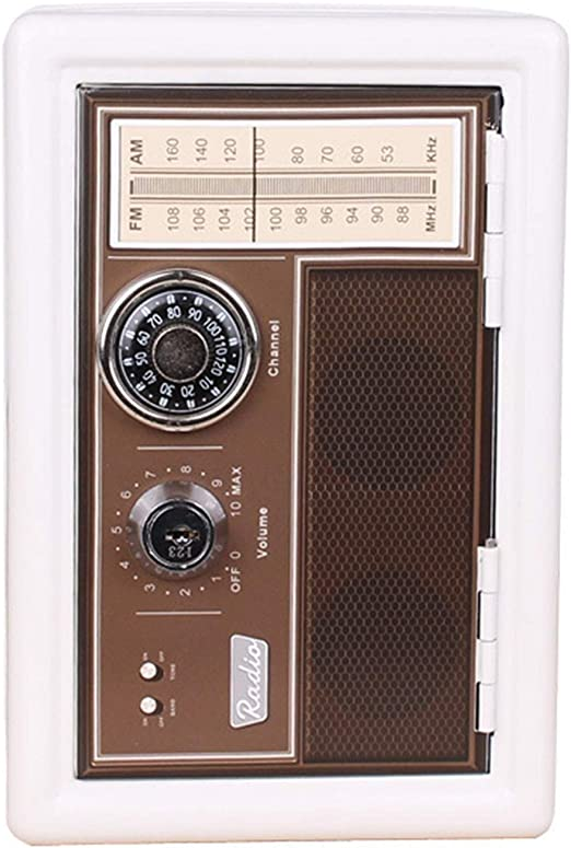 Retro Design Bank.Savings Box Piggy Bank Retro Radio Money Bank Vintage Classic Fun