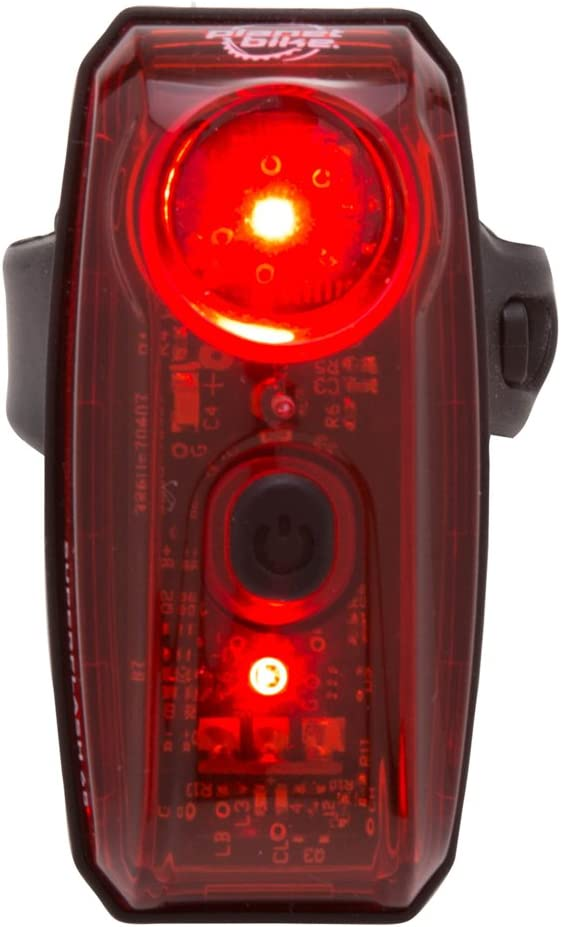Planet Bike Superflash 65R Rear Red Bike Tail Light, USB Rechargeable, Easy to Mount, Safe Rear Light for Multiple Use