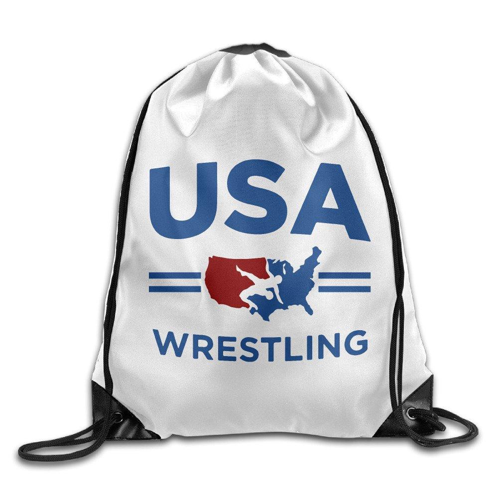 USA Wrestling Sport Sport Backpack Drawstring Print Bag