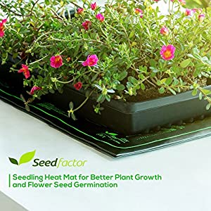 "MET certified Seedling Heat Mat, Seedfactor Waterproof Durable Germination Station Heat Mat, Warm Hydroponic Heating Pad for Indoor Home Gardening Seed Starter(10"" x 20"")"