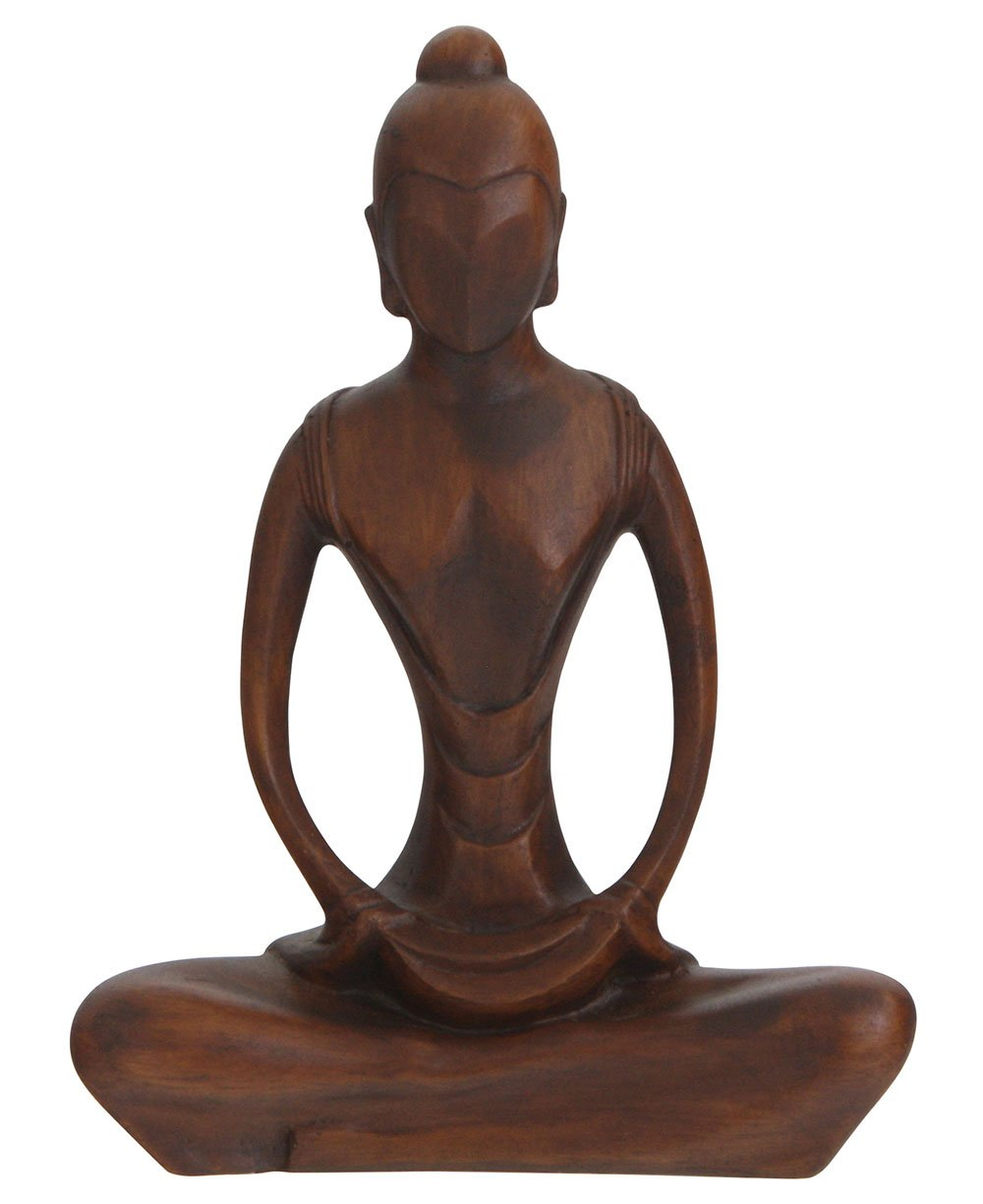 Abstract Statue of Yoga Woman in Meditation