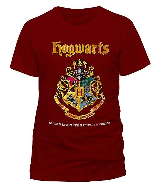 Harry Potter Hogwarts Prosperity - Camiseta Oficial Warner Bros Red 100% algodón
