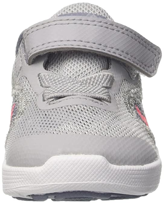 Nike Mädchen Revolution 3 Gtv Sneaker, Grau (Wolf Grey/Solar Red/Dk Sky Blue/White), 22 EU