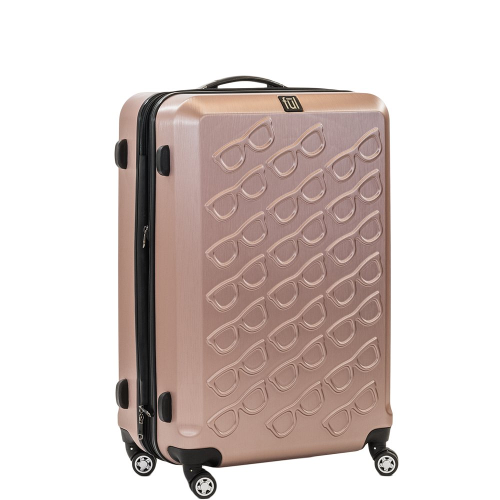 Ful Sunglasses 25in Spinner Rolling Luggage Suitcase Suitcase, Gold