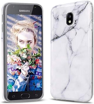 XTCASE Funda Samsung Galaxy J3 2017 Mármol, Ultrafina Suave TPU Silicona Carcasa para Samsung Galaxy J3 2017 J330 Delgado Cover Flexible Protectora Cáscara Anti-arañazos Anti-Choque: Amazon.es: Electrónica