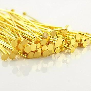 100 pcs Nickel Free Head Pins Gold//Silver//Black//Antique Gold//Bronze 40mm 50mm