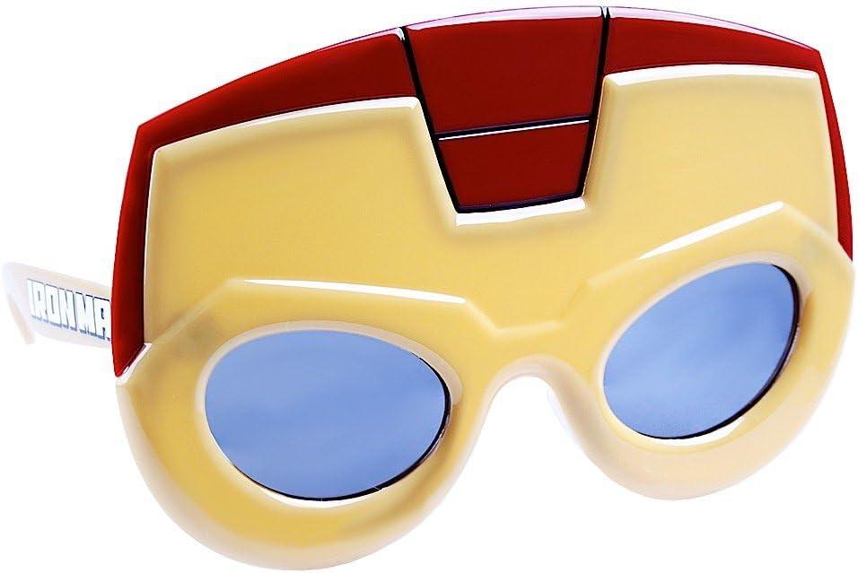 Sun-Staches Aristocrat Fancy Mustache Fun Costume Party Sunglasses Silver