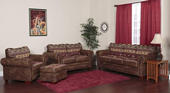 American Furniture Classics 4-Piece Sierra Lodge Sleeper Sofa