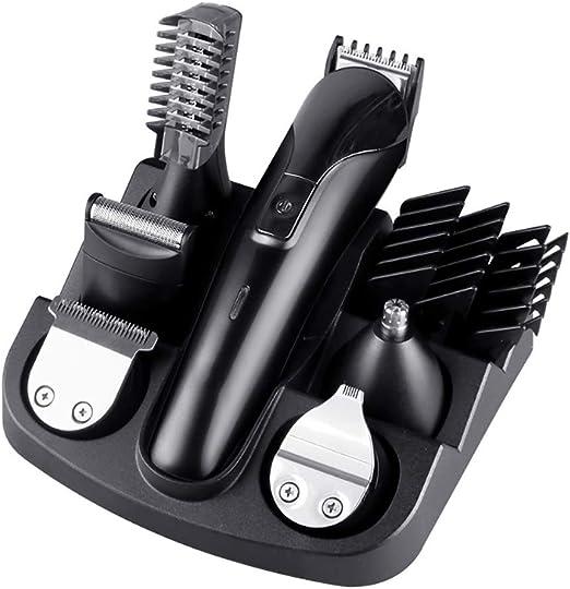 Recortadora de barba para el cabello Recortadora de barba 6 en 1 ...