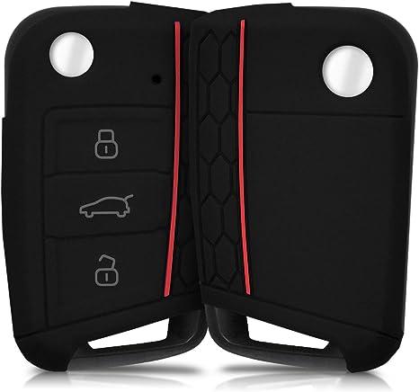 Pour VW Skoda pliante Clé Cover Key Cover Clé Télécommande Noir