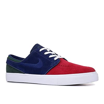 Nike Zoom Stefan Janoski Mens Fashion-Sneakers 333824-641_10.5 - RED Crush/Blue Void-White-Midnight Green   Fashion Sneakers