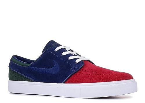 251f22fbd28ed Nike Zoom Stefan Janoski Mens Fashion-Sneakers 333824-641_8.5 - RED  Crush/Blue Void-White-Midnight Green