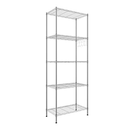 amazon com homdox 5 tier heavy duty wire rack shelving unit kitchen rh amazon com kitchen storage shelf units Store Shelving Units