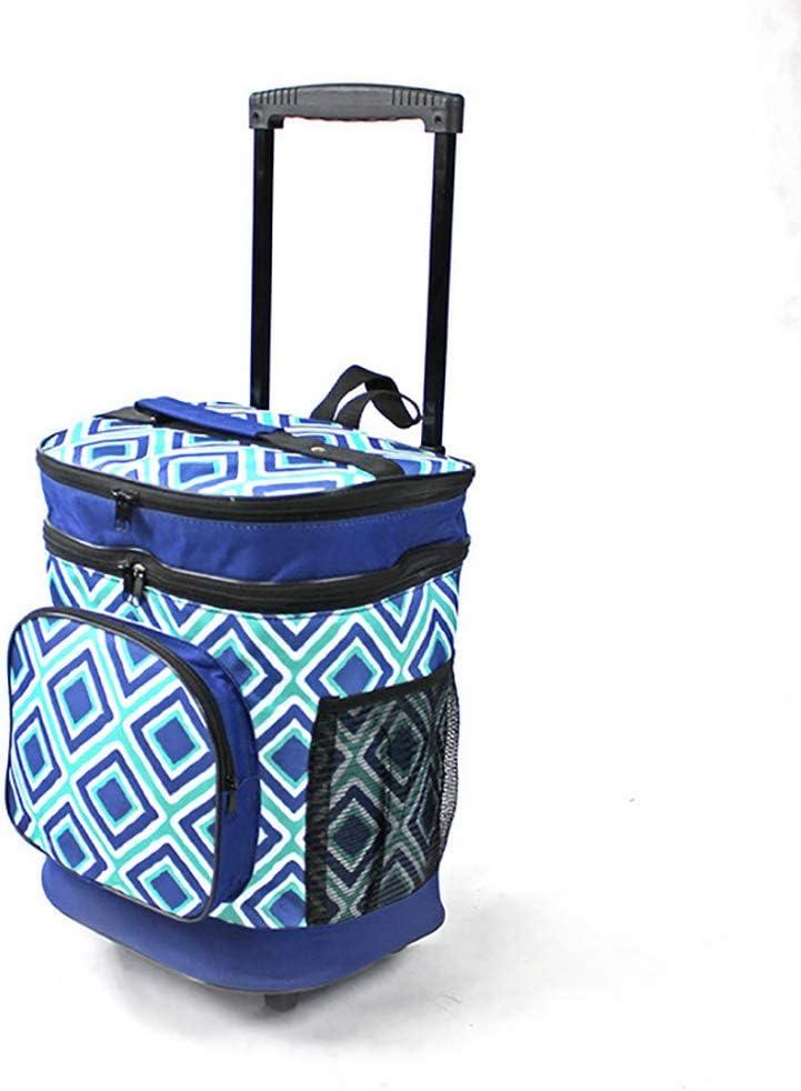 ZYNWW プルロッド ランチバッグ 大人 男女兼用 クーラーバッグ 保温弁当バッグ オフィス 学校 ピクニック ビーチ 旅行 キャンプ用