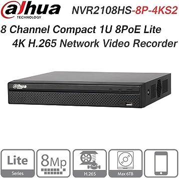 NVR4208-8p-4ks2 OEM Dahua 8 channel Network Video Recorder 8 POE PORTS NVR 4K HD