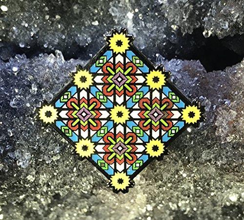 Sacrwd Geometry Warp Grid Enamel Hat Pin Limited Edition Festival Pin Grateful Dead Pin Dab Pin Disney Pin ()